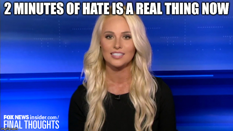 We know you love big brother | 2 MINUTES OF HATE IS A REAL THING NOW | image tagged in orwellian,tonya lasagna,libtard,trump | made w/ Imgflip meme maker