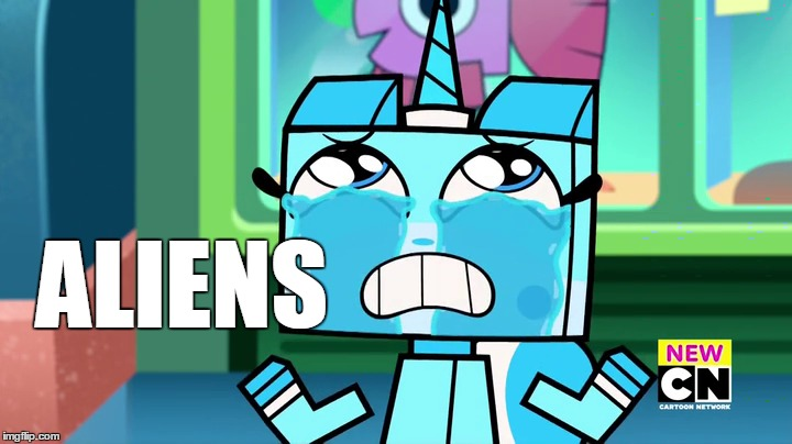 ancient aliens Unikitty | ALIENS | image tagged in ancient aliens,aliens,unikitty | made w/ Imgflip meme maker