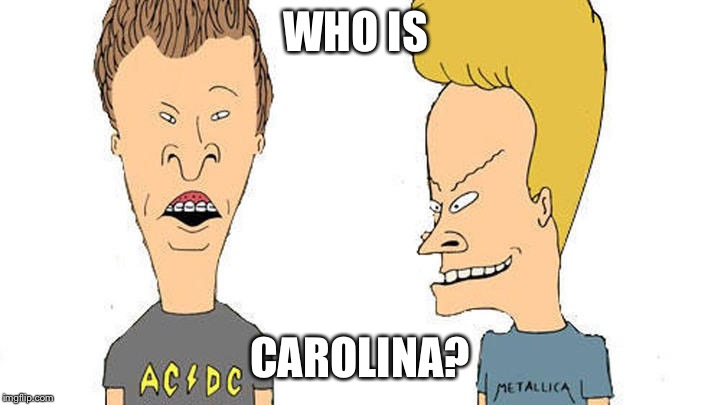 Beavis & Butthead | WHO IS CAROLINA? | image tagged in beavis  butthead | made w/ Imgflip meme maker