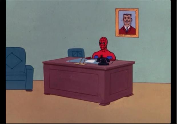 Spiderman Meme Desk Under Desk Wire Management