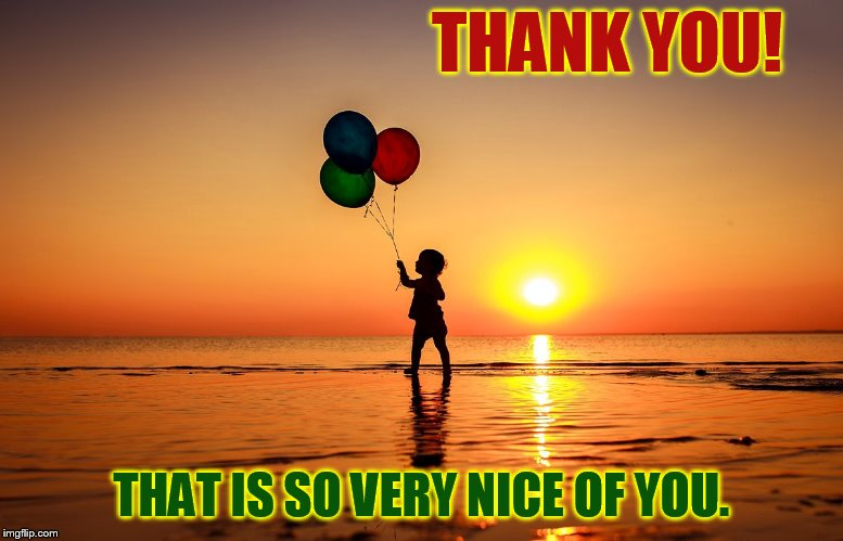 THANK YOU! THAT IS SO VERY NICE OF YOU. | made w/ Imgflip meme maker