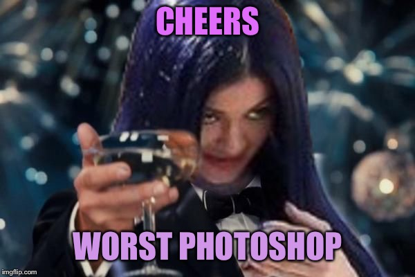 Kylie Cheers | CHEERS WORST PHOTOSHOP | image tagged in kylie cheers | made w/ Imgflip meme maker