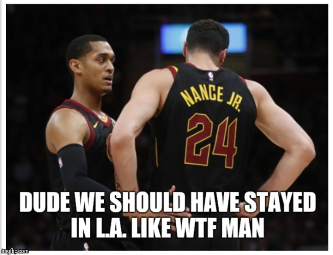 The Blues Brothers | image tagged in jordan clarkson,larry nance jr,lakers,cleveland cavaliers,lebron,nba memes | made w/ Imgflip meme maker