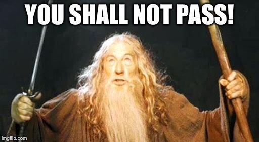 you shall not pass | YOU SHALL NOT PASS! | image tagged in you shall not pass | made w/ Imgflip meme maker