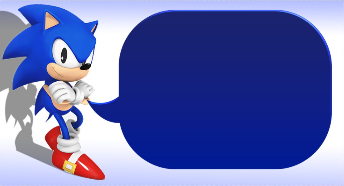 Sonic says Blank Template - Imgflip