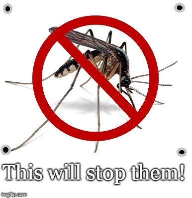Sign solution | This will stop them! | image tagged in mosquitoes,legislation by sign,ban | made w/ Imgflip meme maker