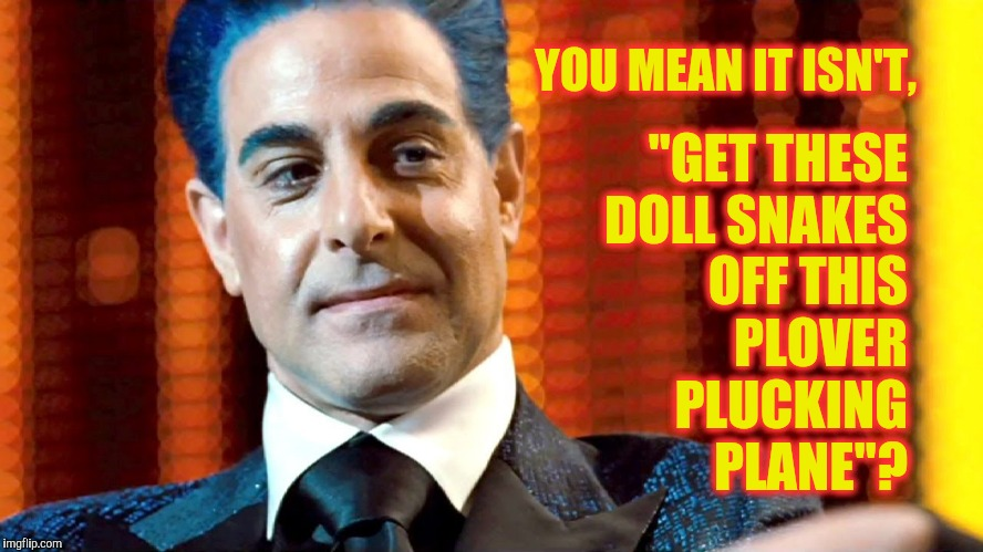 "Hunger Games - Caesar Flickerman (Stanley Tucci) ""You serious?"" 