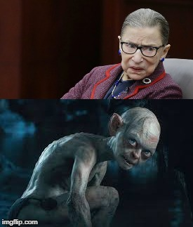 image tagged in ginsburg golem | made w/ Imgflip meme maker