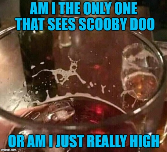 I'm guessing it's probably both! | AM I THE ONLY ONE THAT SEES SCOOBY DOO OR AM I JUST REALLY HIGH | image tagged in scooby doo,memes,alcohol,funny,drinks,dogs | made w/ Imgflip meme maker