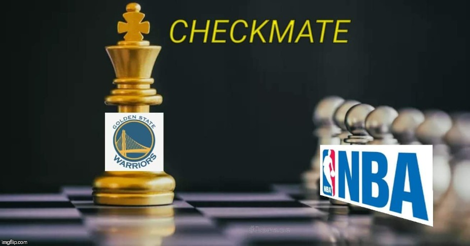 GAME OVER  | image tagged in golden state warriors,chess,nba memes,cousins,lebron james | made w/ Imgflip meme maker