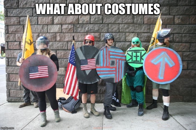 WHAT ABOUT COSTUMES | made w/ Imgflip meme maker