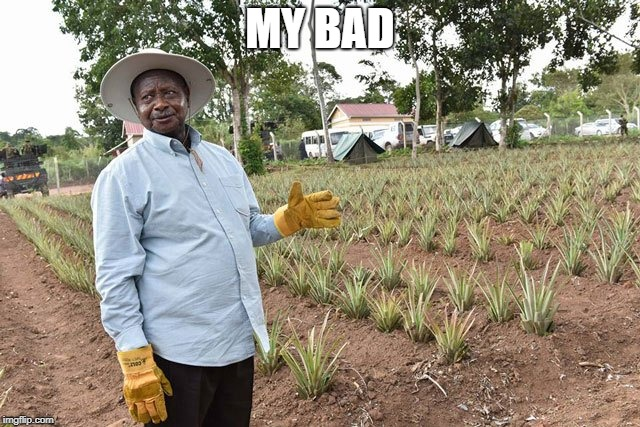 Crops | MY BAD | image tagged in crops | made w/ Imgflip meme maker