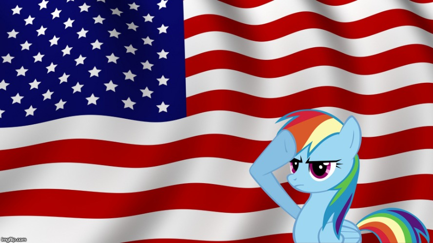 Happy Independence Day! | image tagged in memes,america,american flag,independence day,holiday,ponies | made w/ Imgflip meme maker