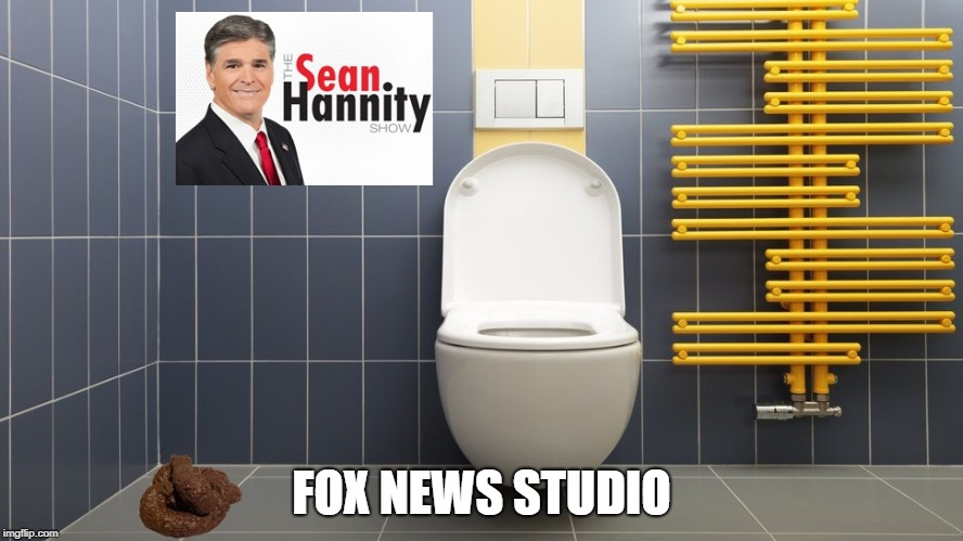 Fox News (oxymoron: noun: a figure of speech in which apparently contradictory terms appear in conjunction) |  FOX NEWS STUDIO | image tagged in fox news,sean hannity,fake news | made w/ Imgflip meme maker