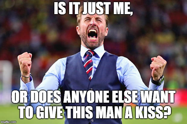 IS IT JUST ME, OR DOES ANYONE ELSE WANT TO GIVE THIS MAN A KISS? | image tagged in southgate,football,england,world cup | made w/ Imgflip meme maker