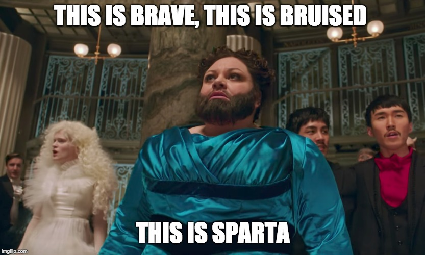 The Greatest meme | THIS IS BRAVE, THIS IS BRUISED THIS IS SPARTA | image tagged in this is sparta | made w/ Imgflip meme maker