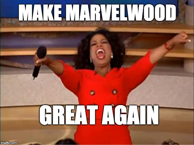 Oprah You Get A Meme | MAKE MARVELWOOD GREAT AGAIN | image tagged in memes,oprah you get a | made w/ Imgflip meme maker