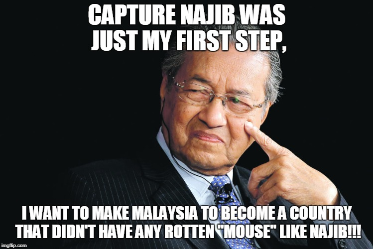 "Capture Najib was just the first step! | CAPTURE NAJIB WAS JUST MY FIRST STEP, I WANT TO MAKE MALAYSIA TO BECOME A COUNTRY THAT DIDN'T HAVE ANY ROTTEN ""MOUSE"" LIKE NAJIB!!! 