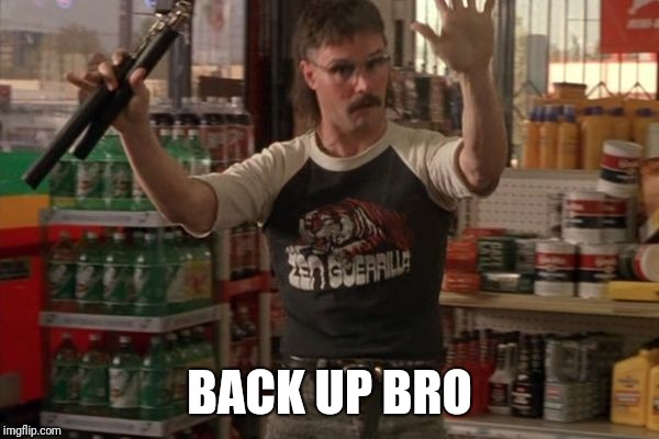Back Up Bro | BACK UP BRO | image tagged in back up bro | made w/ Imgflip meme maker
