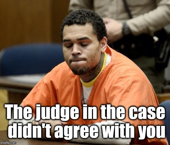 Chris Brown | The judge in the case didn't agree with you | image tagged in chris brown | made w/ Imgflip meme maker