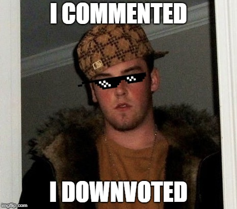 Douchebag | I COMMENTED I DOWNVOTED | image tagged in douchebag | made w/ Imgflip meme maker