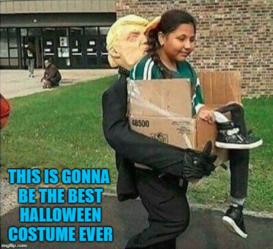I might do this myself this year!!! | THIS IS GONNA BE THE BEST HALLOWEEN COSTUME EVER | image tagged in halloween costume,memes,trump,funny,halloween | made w/ Imgflip meme maker