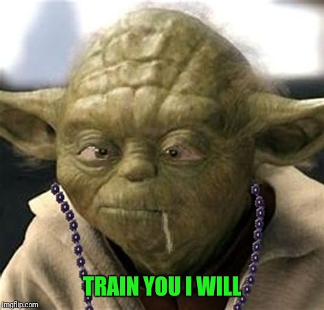 TRAIN YOU I WILL | made w/ Imgflip meme maker