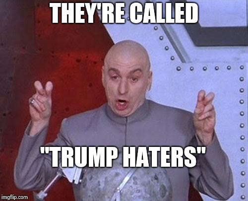 "Dr Evil Laser Meme | THEY'RE CALLED ""TRUMP HATERS"" 