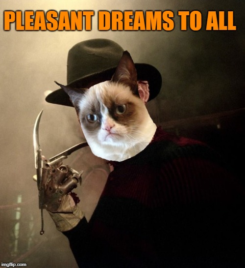 PLEASANT DREAMS TO ALL | made w/ Imgflip meme maker