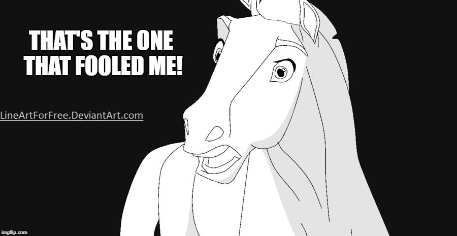 Shocked Horse | THAT'S THE ONE THAT FOOLED ME! | image tagged in shocked horse | made w/ Imgflip meme maker