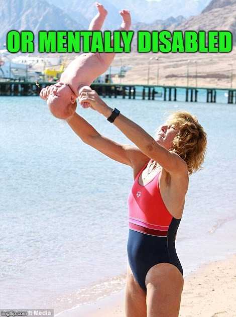 OR MENTALLY DISABLED | made w/ Imgflip meme maker