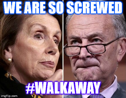 Walkaway Campaign | WE ARE SO SCREWED #WALKAWAY | image tagged in democrats,pelosi,chuck schumer | made w/ Imgflip meme maker