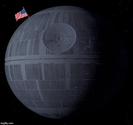 May the Space Force be With You | . | image tagged in memes,funny,space force,death star | made w/ Imgflip meme maker