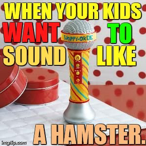 Hamster Weekend July 6-8 a bachmemeguy2, 1forpeace, and Shen_Hiroku_Nagato event/ Parents better know what to buy... | WHEN YOUR KIDS A HAMSTER. WANT TO SOUND LIKE | image tagged in memes,hamster weekend,microphone,kids,hamster,sound | made w/ Imgflip meme maker