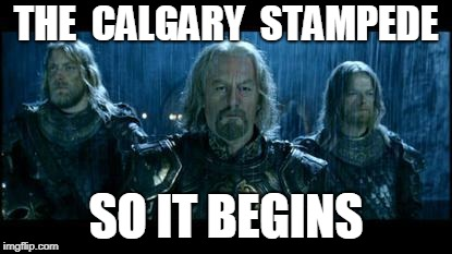 so it begins | THE  CALGARY  STAMPEDE SO IT BEGINS | image tagged in so it begins | made w/ Imgflip meme maker