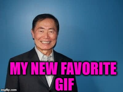 sulu | MY NEW FAVORITE GIF | image tagged in sulu | made w/ Imgflip meme maker