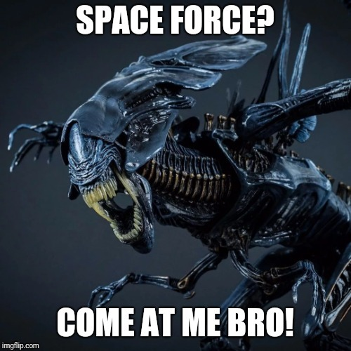 Space force | image tagged in aliens,space force | made w/ Imgflip meme maker