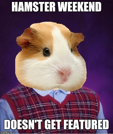Hamster weekend. July 6-8.  | HAMSTER WEEKEND DOESN'T GET FEATURED | image tagged in memes,hamster weekend | made w/ Imgflip meme maker