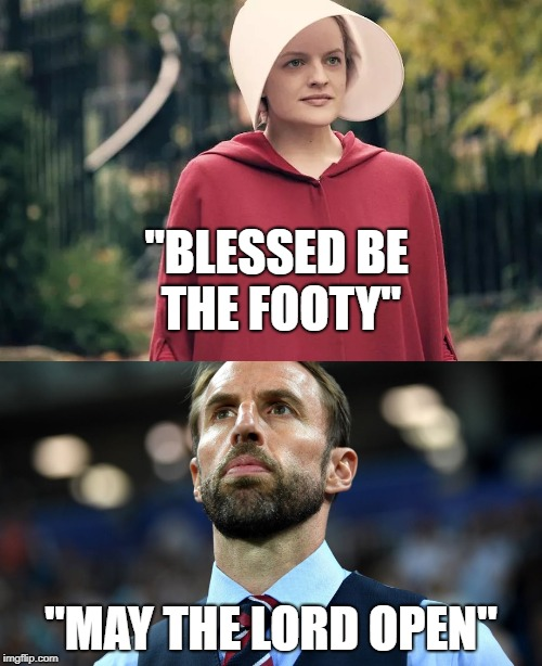 "blessed be the footy | ""BLESSED BE THE FOOTY"" ""MAY THE LORD OPEN"" 