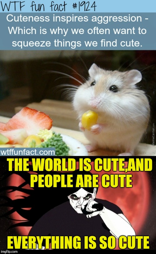 My girlfriend was so cute,I choked the life out her | THE WORLD IS CUTE,AND PEOPLE ARE CUTE EVERYTHING IS SO CUTE | image tagged in memes,fun fact,cuteness,squeeze,powermetalhead,funny | made w/ Imgflip meme maker