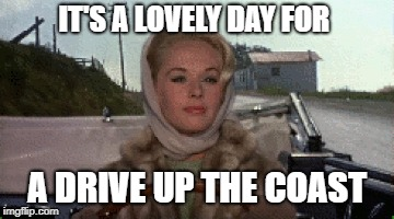 IT'S A LOVELY DAY FOR A DRIVE UP THE COAST | made w/ Imgflip meme maker