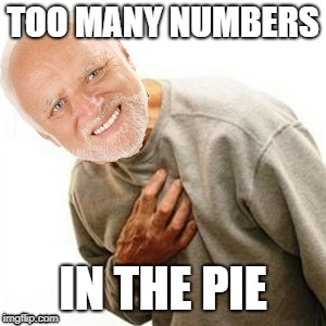 TOO MANY NUMBERS IN THE PIE | made w/ Imgflip meme maker
