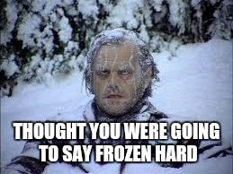 THOUGHT YOU WERE GOING TO SAY FROZEN HARD | made w/ Imgflip meme maker