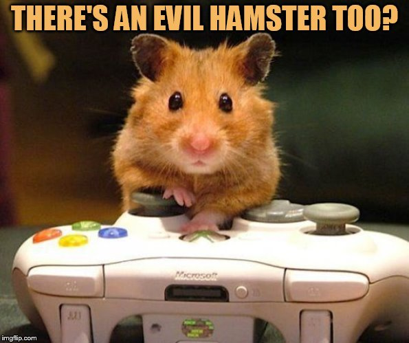 THERE'S AN EVIL HAMSTER TOO? | made w/ Imgflip meme maker