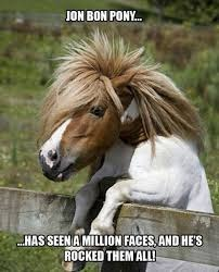 Jon Bon Pony | JON BON PONY... ...HAS SEEN A MILLION FACES, AND HE'S ROCKED THEM ALL! | image tagged in memes,jon bon pony,jon bon jovi | made w/ Imgflip meme maker