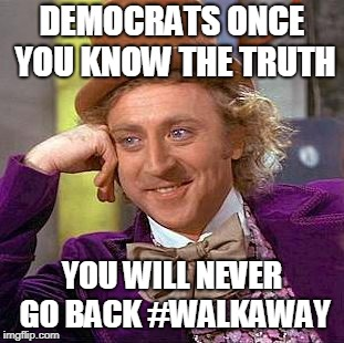 DEMOCRATS ONCE YOU KNOW THE TRUTH YOU WILL NEVER GO BACK #WALKAWAY | image tagged in truther you say | made w/ Imgflip meme maker