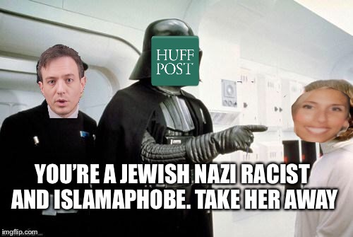 Amy Mek | YOU'RE A JEWISH NAZI RACIST AND ISLAMAPHOBE. TAKE HER AWAY | image tagged in darth vader leia,jewish,free speech,israel | made w/ Imgflip meme maker