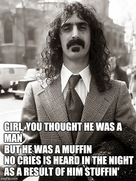 GIRL, YOU THOUGHT HE WAS A MAN                                    BUT HE WAS A MUFFIN                  NO CRIES IS HEARD IN THE NIGHT        | made w/ Imgflip meme maker
