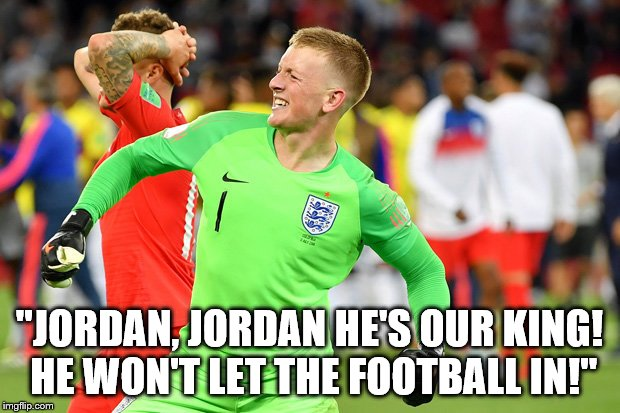 """JORDAN, JORDAN HE'S OUR KING! HE WON'T LET THE FOOTBALL IN!"" 