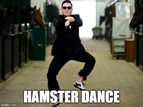 Psy Horse Dance |  HAMSTER DANCE | image tagged in memes,psy horse dance,hamster weekend | made w/ Imgflip meme maker